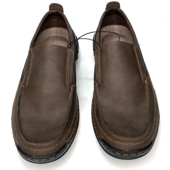 IZOD Brown Slip On Memory Foam Loafers Size 10.5